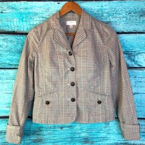 Plaid Button Up Blazer by Isaac Mizrahi for Target